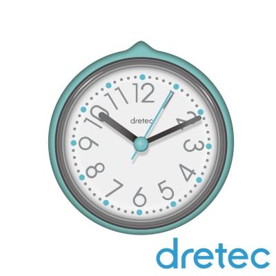 dretec SPA大字幕浴室防水時鐘-水藍色