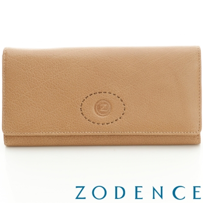 ZODENCE-巴基斯坦牛皮系列多卡層基本款長夾-淺駝