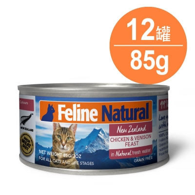K9 99%生肉主食貓罐-無穀雞肉+鹿肉85g-12入