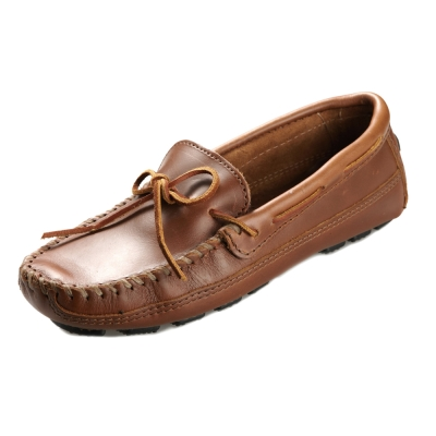 (男)MINNETONKA-Double Bottom休閒牛皮帆船鞋-駝色
