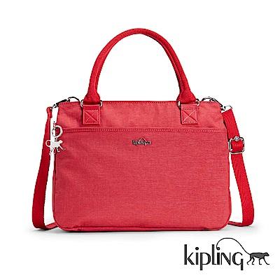 Kipling 手提包 紋路質感蘋果紅-大