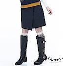 OUWEY歐薇 扣帶活片A字及膝裙(藍)