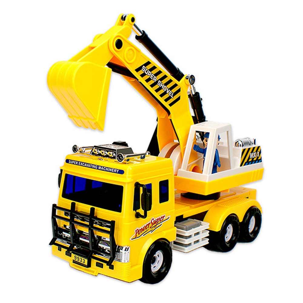Amuzinc酷比樂 兒童玩具 磨輪動力車 城市工程車 大型挖掘機 9933