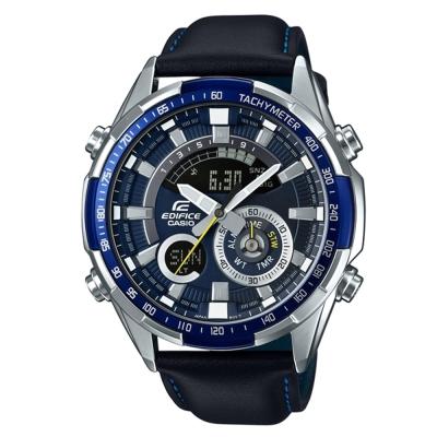 EDIFICER急速奔騰科技感立體多層次賽車皮帶腕錶-ERA-600L-2-47-1mm
