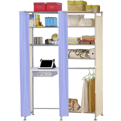 巴塞隆納-W5型60公分+E60公分電腦桌衣櫥架