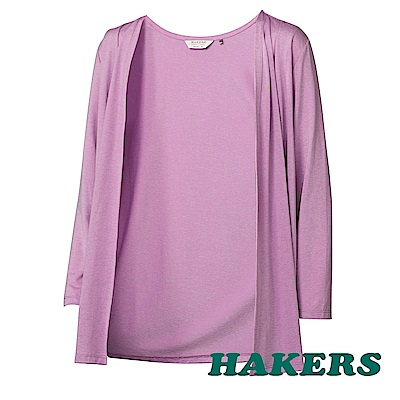 【HAKERS 哈克士】女-涼感抗菌小罩衫-紫色