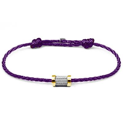 CHARRIOL 夏利豪 Forever 色彩拉繩紫色手環