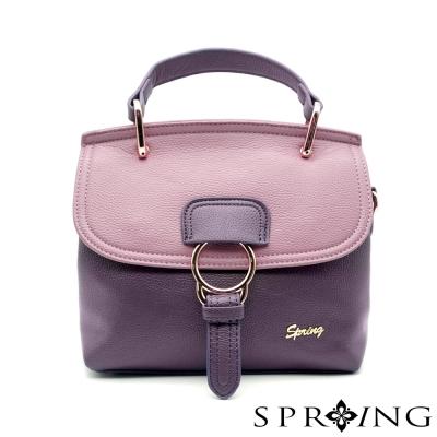 SPRING-獨一無二的妳真皮托特包-粉紫/夢境深紫