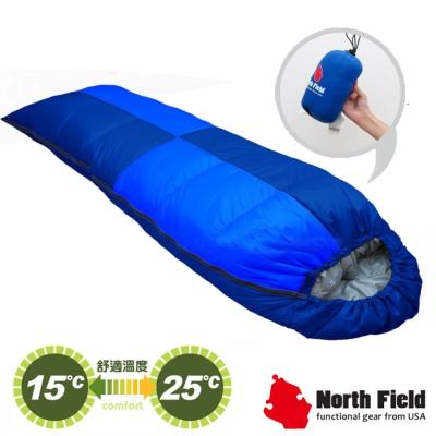 【美國 North Field】杜邦Tactel 頂級白羽絨睡袋150g_岩藍