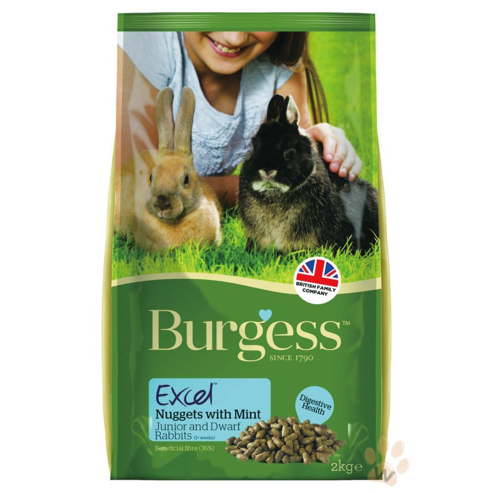 Burgess伯爵高機能兔飼料-幼兔及侏儒兔2kg 2入