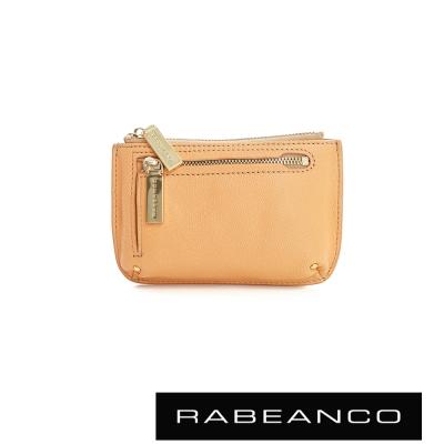 RABEANCO 迷時尚系列雙拉鍊零錢包(大) - 淡香橙