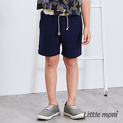 Little moni 素面五分褲 深藍