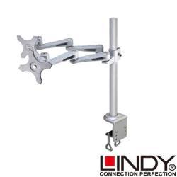 LINDY 林帝 長旋臂式雙螢幕支架+45cmC型夾鉗式支桿組合(40692+40697)