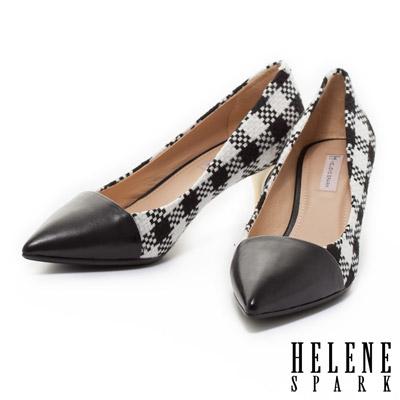 HELENE-SPARK-拼接造型時尚尖頭高跟鞋