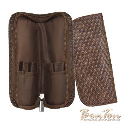 BonTon 6支咖啡皮革編織刷具包
