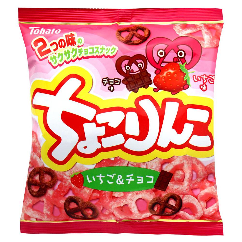 !東鳩 草莓巧克力雙色脆果(62g)