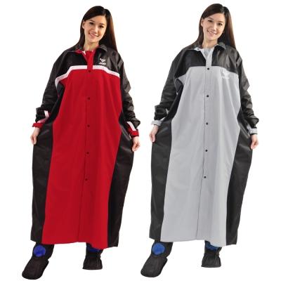 JUMP 將門 精緻反光前開連身型休閒風雨衣(5XL)加大尺寸