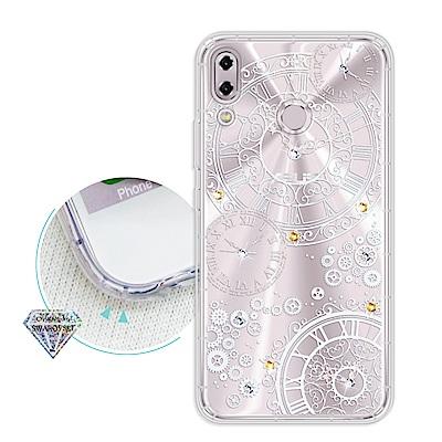 浪漫彩繪 ASUS ZenFone 5Z ZS620KL 水鑽空壓氣墊手機殼(齒...