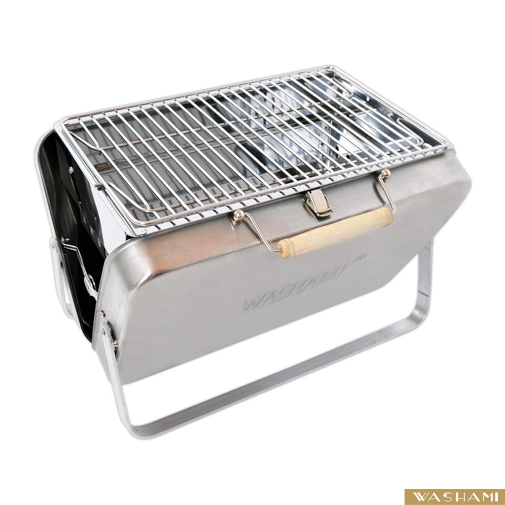 WASHAMl-變形金鋼手提行動燒烤架304不鏽鋼(專利款)