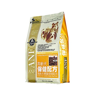 ANF愛恩富 高齡犬保健配方-老犬/體重控制配方15kg