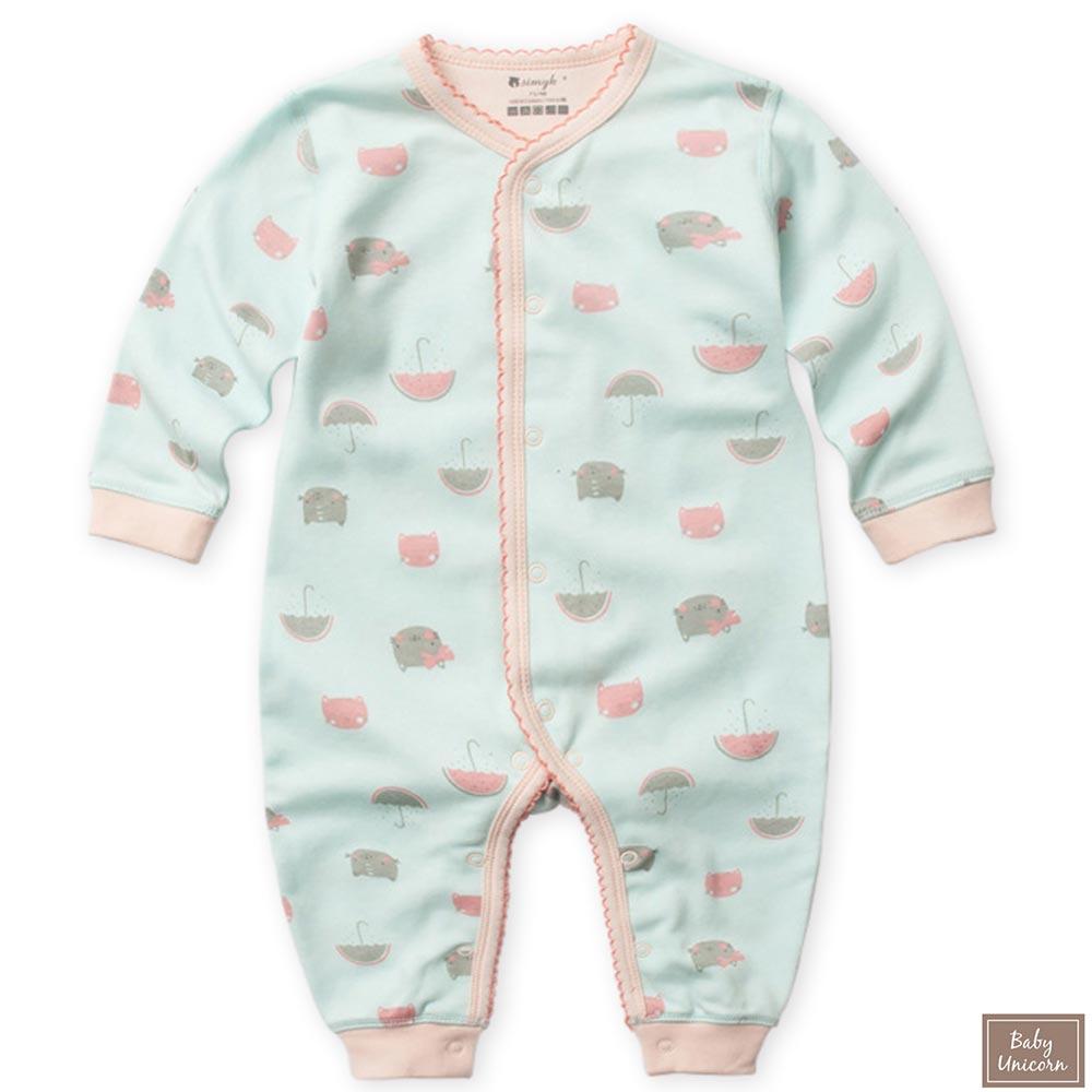 Baby unicorn 貓咪長袖連身衣包屁衣