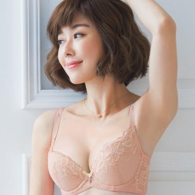 推Audrey-無痕雙翼 美背款B-E罩內衣(甜粉橙)