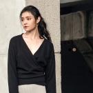 東京著衣-KODZ V領圍裹式安哥拉兔毛針織上衣-S.M.L(共二色)