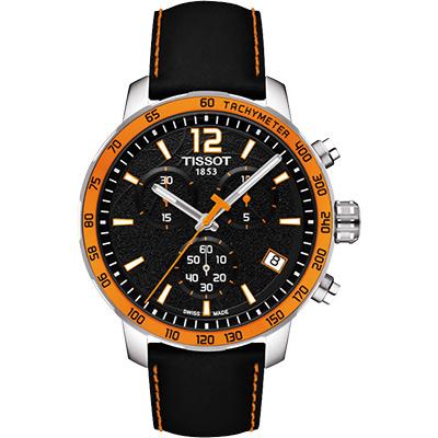 TISSOT 2014 FIBA 籃球世界盃限量版腕錶-黑x橘框/42mm