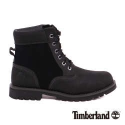 Timberland 男款黑色皮革拼接麂皮6吋防水靴