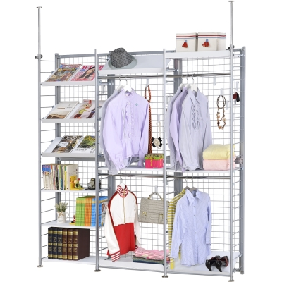 巴塞隆納─K633型伸縮屏風衣櫥架展示架置物架