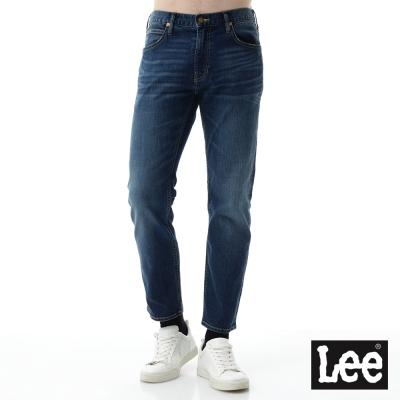Lee 牛仔褲 726中腰標準小直筒9分長-男款-中藍