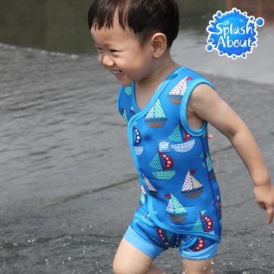 Splash About 潑寶 包裹式保暖泳衣 - 普普風帆船