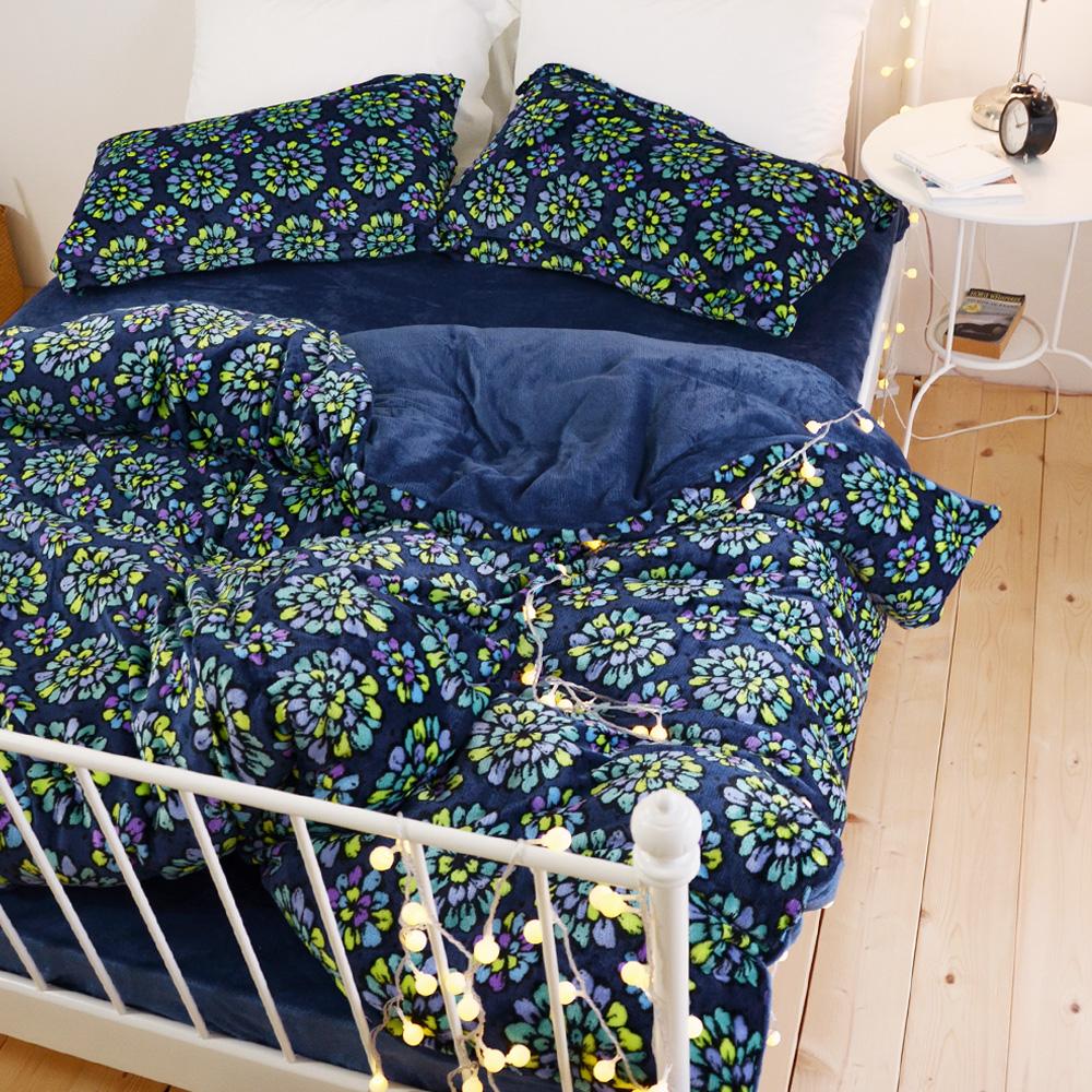 絲薇諾  花火  雙人加大四件式-極致保暖法蘭絨床包被套組