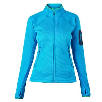 【Berghaus貝豪斯】女款彈性刷毛保暖外套H22FQ4-藍