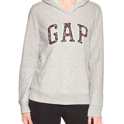 GAP 女生 長袖  帽T 灰 0346