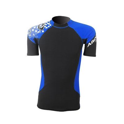 AROPEC Compression II 男款運動機能壓力衣 短袖 黑/藍