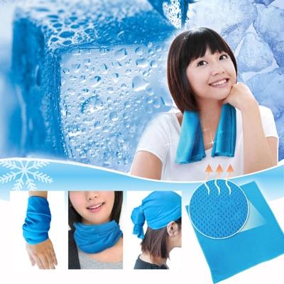 魔術冰涼巾30*50cm圓筒巾 頭巾│冰爽巾│冰涼巾│涼感巾│冰冷巾
