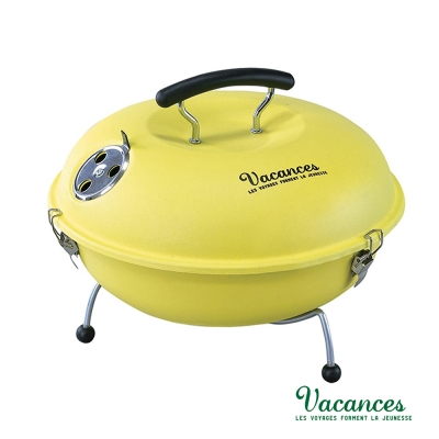 ~ VACANCES~野餐度假 BBQ 輕量 黃色 馬卡龍 烤肉爐  烤肉 烤箱
