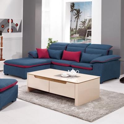 Bernice-奧茲雙色L型布沙發-260cm(附抱枕)(左右型可選)