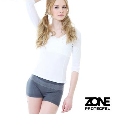 女內褲諾貝爾世紀纖維貼身防護女褲灰ZONE