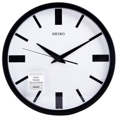 SEIKO 精工 後現代主義 滑動式秒針 靜音 時鐘 掛鐘(QXA476T)-31cm
