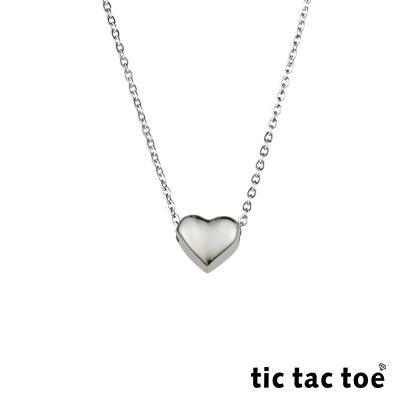 tic tac toe 立體愛心白鋼女鍊
