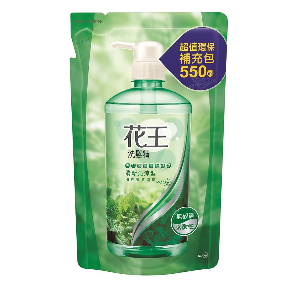 花王 清新沁涼洗髮精 補充包 (550ml/包)