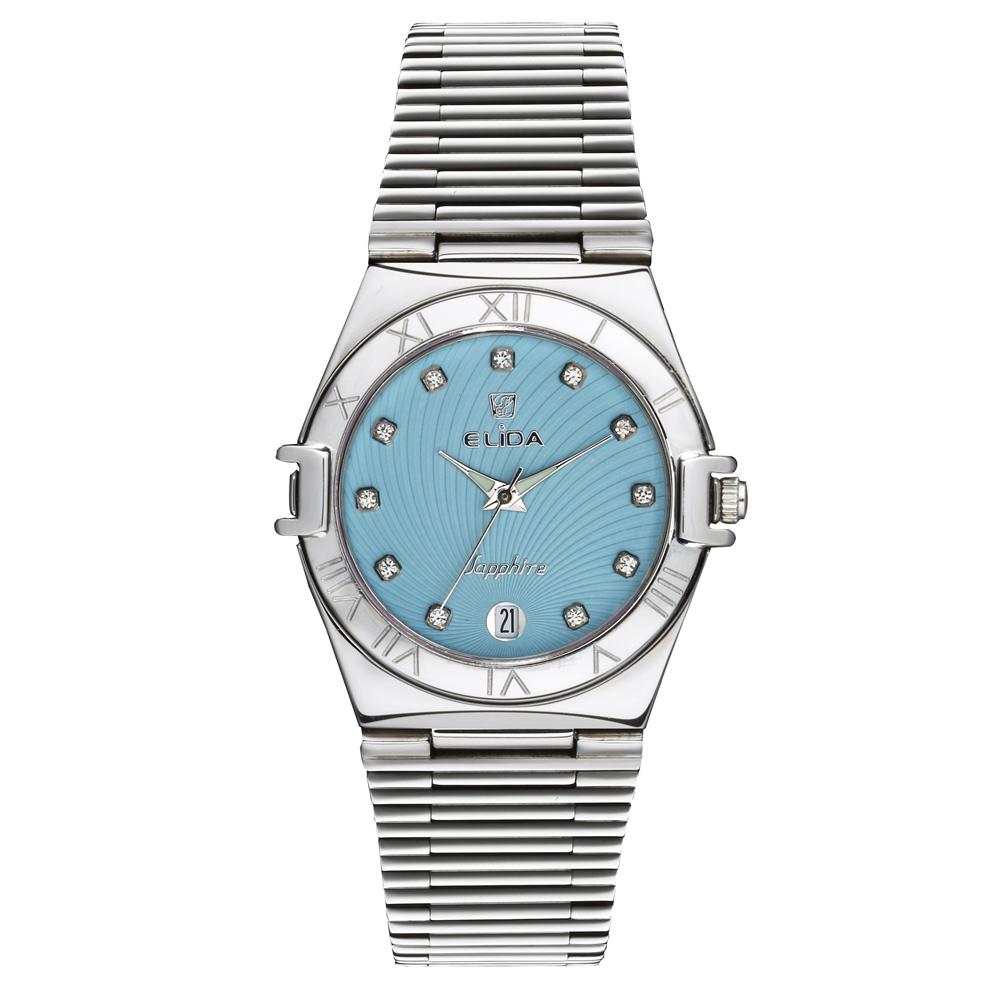 Elida 名媛系列時尚腕錶-藍/34mm