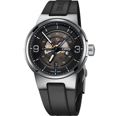 Oris 豪利時 Williams鏤空日期機械腕表-灰x黑/42mm