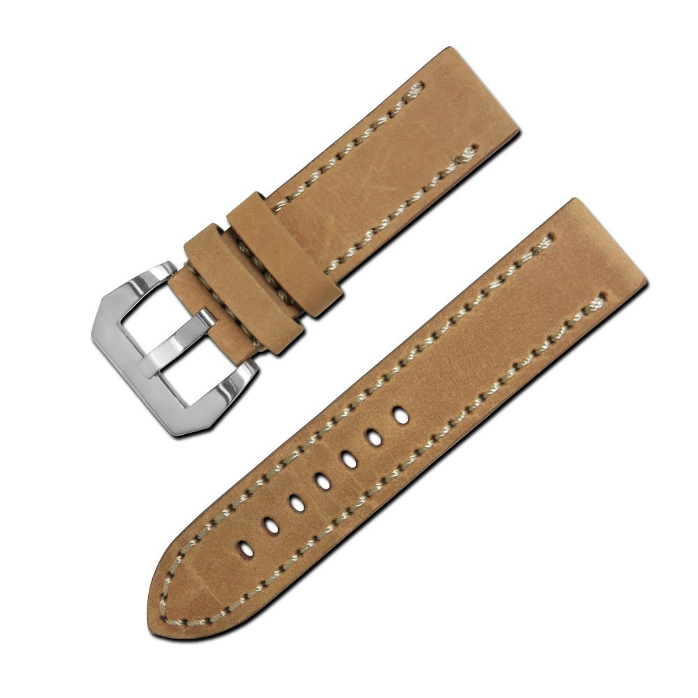 Watchband / 經典復刻時尚指標加厚版牛皮錶帶 駝色