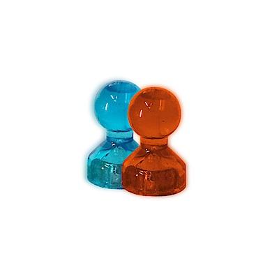 HANLIN-ND1117 辦公居家棋型透明強力小磁鐵 (一盒50顆