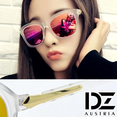 【2件59折】DZ 千頌伊款~角弧線矢 抗UV 偏光 太陽眼鏡墨鏡(霧透框虹膜A款)