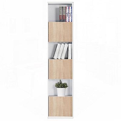 AT HOME布拉格1.35尺白色橡木紋三單門書櫃41x30x185cm