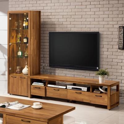 Bernice-薩爾8尺L型電視櫃組合-240x45x184cm